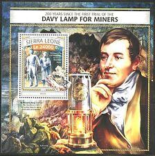 SIERRA LEONE  2016  DAVY LAMP FOR MINERS   SOUVENIR SHEET MINT NH