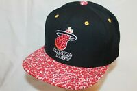 "Miami Heat Snapback Hat Cap ""Full Court Press"" by Mitchell & Ness NBA Caps"