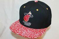 "Miami Heat Snapback Hat Cap ""Full Court Press"" by Mitchell & Ness NBA Caps"