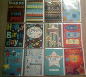 HAPPY BIRTHDAY CARD*COLOURFUL DESIGNS*CHOOSE*STARS*MALE*GREETING*