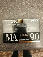 TDK MA 90 Type IV Metal Position Audio Cassette Tape. New, unopened, sealed.