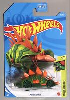 2021 Hot Wheels Motosaurus Green Dino Treasure Hunt D Case Dino Riders