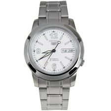 Seiko 5 Automatic SNKE57 SNKE57K1 Men Day Date White Dial Stainless Steel Watch