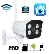 IP CAMERA P2P TELECAMERA WIRELESS WIFI LED IR INFRAROSSI IPCAM PER ESTERNO SD HD