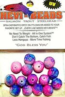 Hevi-Beads 10mm UV Pink Creamed Roe - Salmon Trout Steelhead Spin Fly Bait Fly