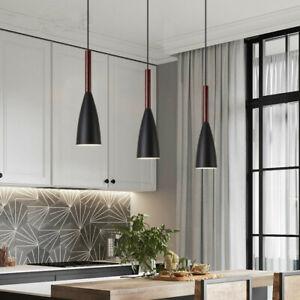 3X Black Ceiling Lamp Modern Pendant Light Room Chandelier Lighting Home Lights