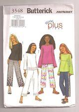 Butterick GIRLS'/PLUS TOP & PANT Pattern 3548...UNCUT