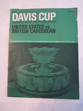 1968 DAVIS CUP SOUVENIR PROGRAM - U.S. VS. BRITISH CARIBBEAN - TUB ABA