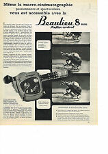 PUBLICITE ADVERTISING   1962   BEAULIEU    reflex control 8mm  Caméra