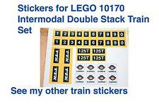 Custom LEGO TTX Intermodal Double-Stack Car 10170 CSX