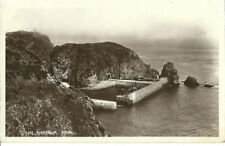 More details for sark the harbour with boat 1908 boots real photo postcard