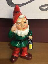 Vintage Elf Gnome Christmas Colorful Chalkware Figurines Rb Japan 6�