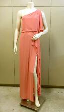 "$298 BCBG CORAL  ""KENDAL"" ONE SHOULDER LONG DRESS GOWN NWT 4"