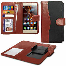 For Acer Liquid Glow E330 - Fabric Mix Clip Function Wallet Case Cover