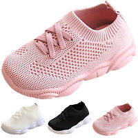 Toddler Kids Breathable Socks Shoes Boys Girls Casual Sports Trainers Sneakers