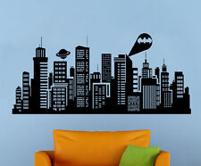 Batman Gotham City Wall Decal Comics Vinyl Sticker Kids Room Home Art Decor 11gs