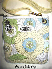 SPARTINA 449 Daufuskie Island Floral Linen/Leather Cross Body Bag Size X-small