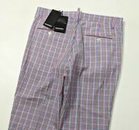 BNWT DSQUARED2 Mens Chino Trousers Cropped Gingham Check Rare Sz 48 W33 RRP £445