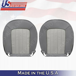 2002-2005 Mercury Mountaineer Driver & Passenger Bottoms Leather Seat Cover GRAY