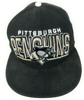 Pittsburgh Penguins NHL New Era Fitted Adjustable Size Embroidered Logo Black