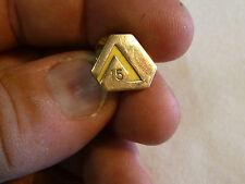 Vintage Lapel Hat Pin Gold Tone Metal  15  Year CTO 1/10  10K