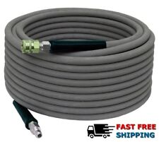 4000psi Pressure Washer Hose - 50' Gray Non Marking Cover With Couplers Installe