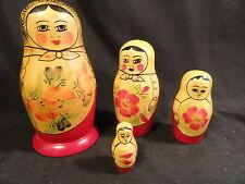 Matryoshka Russian Wooden Handmade Nesting Dolls Set Souvenir 4 pc