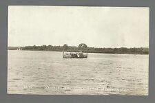 Wabasha MINNESOTA RP c1915 FERRY on MISSISSIPPI RIVER nr Lake City Kellogg