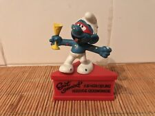 Schtroumpf Smurf sur socle « Carnaval » 1980 Schleich GM 8010858 Made in Germany