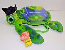 Fiesta Turtle Pirate Hat Backpack Bag Green Plush Stuffed Animal NEW