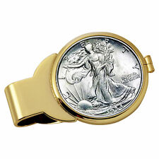 NEW Year to Remember Goldtone Half Dollar Coin Money Clip 1945