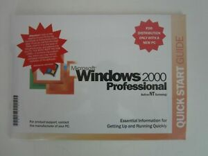 MICROSOFT WINDOWS 2000 PROFESSIONAL w/SP4 FULL OPERATING SYSTEM MS WIN PRO =NEW=