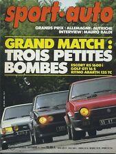 SPORT AUTO n°248 09/1982 GP ALLEMAGNE AUTRICHE GOLF GTI 16S AVEC ENCART & POSTER