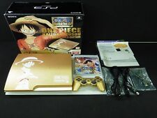 SONY Playstation 3 PS3 Limited One Piece Gold Slim 320GB Console CECH-3000B USED
