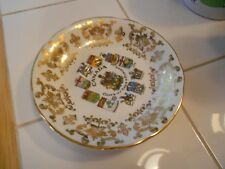 VINTAGE CANADA COAT OF ARMS & EMBLEMS PLATE/SAUCER-BY PARAGON-EXCELLENT