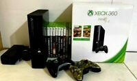 Xbox 360 Console 250GB HD 10 Games 2 Controllers 2 Headsets COD Burger King Gift