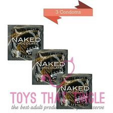 Four Seasons Naked Chocolate 3 condoms free shipping