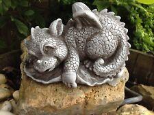Für Garten Deko Drache Figur Steinguss Fantasiefiguren Drachen Steinfiguren