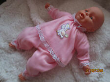 "HANDMADE CLOTHES FOR /REBORN BABY 6-12MTHS  24"" PINK PYJAMAS"