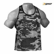 Gasp Gym Gilet Mimetico Gilet Muscolo Gymwear originale, taglia M