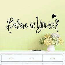 Believe in yourself Art Vinyl Wall Sticker Home decor living room Decals Words