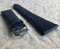 Blue 22mm Heuer Monaco 1133B Monaco 1133G band vintage with Heuer buckle 13 sold