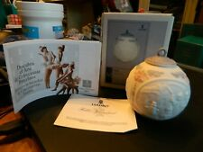 1991 Lladro #5829 Annual Christmas Ball Tree Ornament In Nib w/Papers Nativity