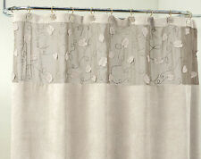 Morning Leaf Suede Fabric Shower Curtain 3 Colors Gray Morn, Sage Green or Taupe