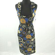 NEW BCBG Max Azaria Sleeveless Light Knit Dress Womens XL Geometric Print NWT