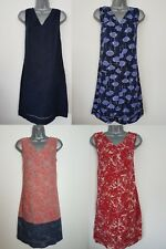 Ladies NEXT Shift Dress Linen Floral Print Summer Vintage Smock Beach Size