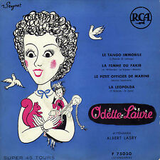 ODETTE LAURE LE TANGO IMMOBILE FRENCH ORIG EP ALBERT LASRY POCHETTE PEYNET