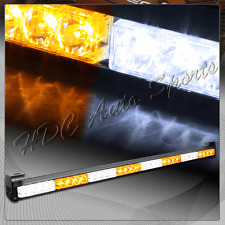 "35.5"" White & Amber LED Traffic Advisor Emergency Strobe Light Bar Universal 6"