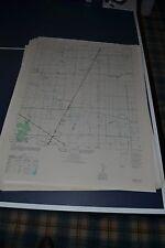 1940's Army topo map Almeda Texas Sheet 6943 III SW Houston