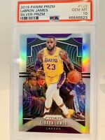 2019-20 Prizm Silver Holo #129 LeBron James Lakers PSA 10 Gem Mint HOT 🔥🔥🏆🏆